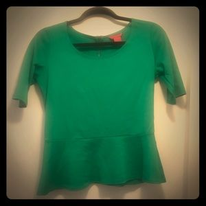 Peplum Green top